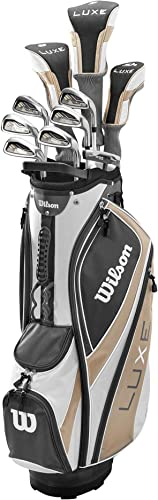 Tall Mens Complete Golf Set Clubs Fits Men 6 0 – 6 6 Tall Driver, Fairway Wood, Hybrid, Irons, Putter, Stand Bag
