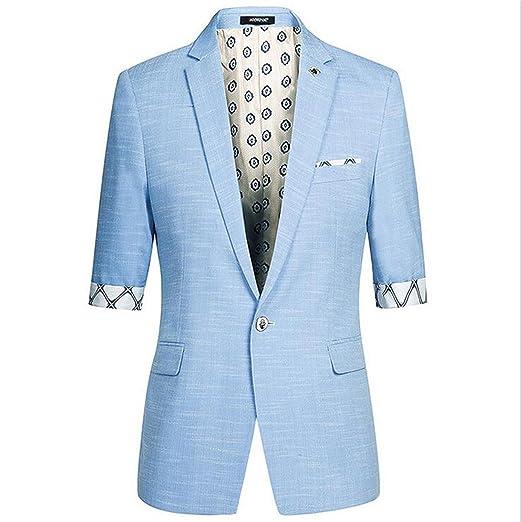 4a2c9c4a636457 NeeKer Jacket Male Half Short Sleeve Slim Fit Thin Blazer Men's Prom Stage Wear  Casual Suits Jacket Men Groom Wedding Dress at Amazon Men's Clothing store: