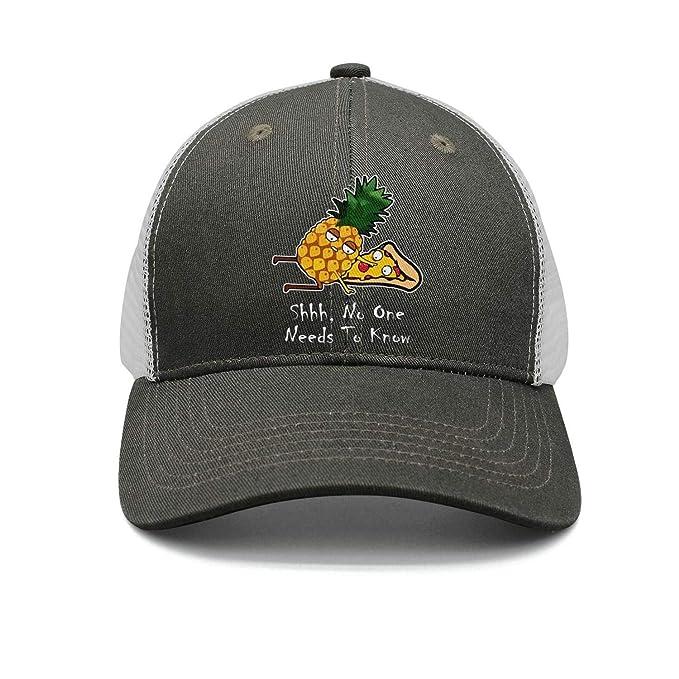 ONEYUAN Man Funny Golden Pineapple with Pizza Baseball Cap Sport Cap ... bf23e38eea7