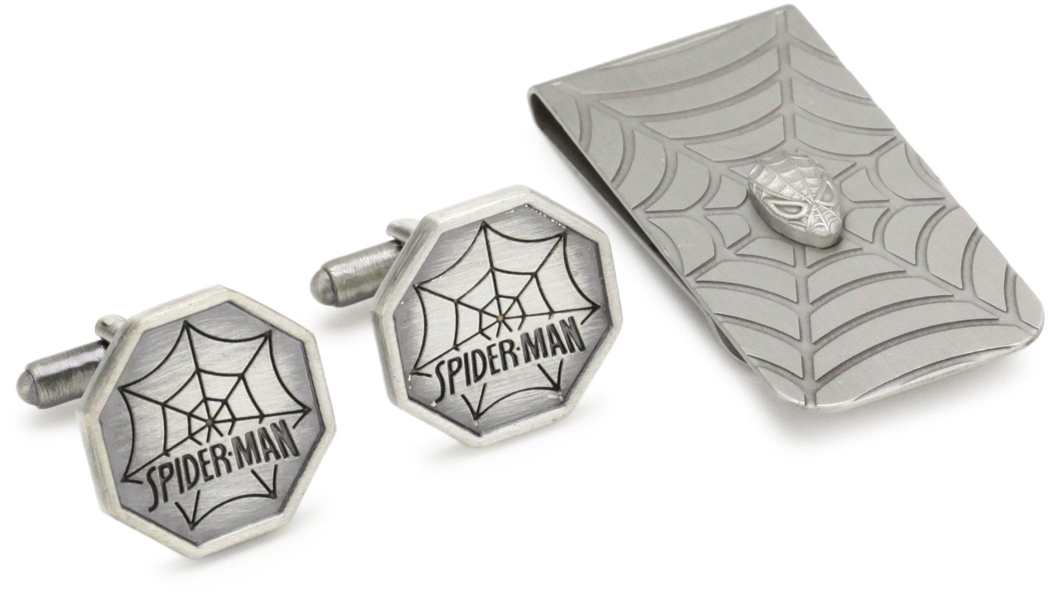Marvel Comics Spider-Man Cuff Link and Money Clip Box Set