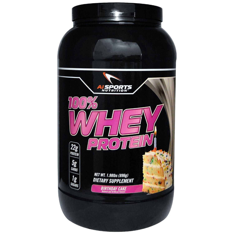 Amazon 100 Whey Birthday Cake Protein Powder By AI Sports Nutrition