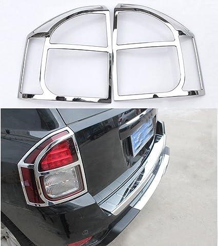 Chrome Rear Tail Fog Light Lamp Cover Trim Frame for Jeep Compass 2011-2016 2PCS