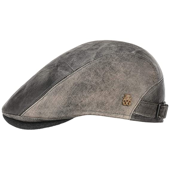 2df7220f55a Mayser Leather Flat Cap Zechbauer Ivy hat  Amazon.co.uk  Clothing
