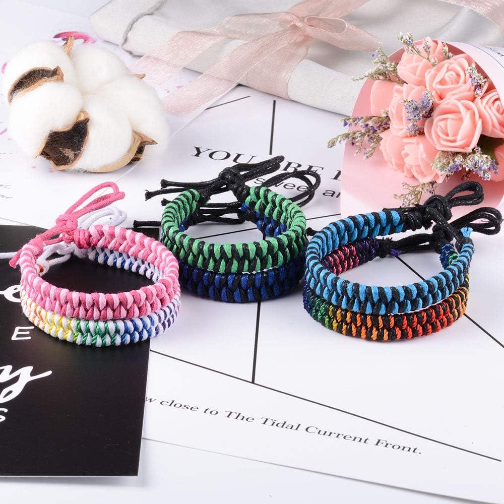VU100 6PCS Tress/é Corde Bracelet Amitie /Él/égant de la Plus Haute Qualit/é pour Les Hommes Femme