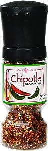 Chipotle Seasoning Gripper Grinders, 4.2oz Adjustable Grinder for Fresh Smokey Hot Spice Flavor - 2 pack