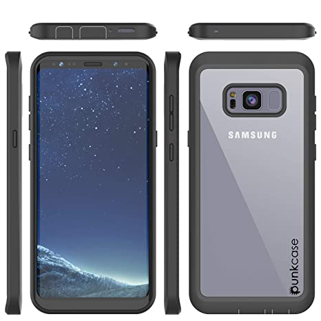 buy popular 97e0b 536c9 PunkCase Galaxy S8 Plus Case, [Spartan Series] Clear Rugged Heavy Duty  Cover W/Built in Screen Protector | Ultra Slim 360 Full Body Protection ...