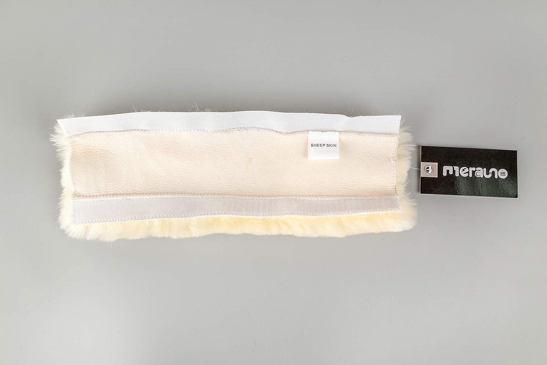 Nature 11 inches 28cm Merauno Muserolle de Nez en Peau dagneau pour Cheval ou Licol en v/éritable Peau de Mouton Noir//Marron 2 Tailles 28 ou 32 cm