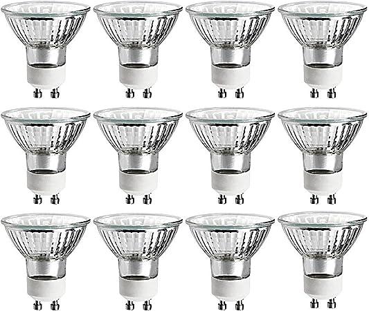 6-Pack Dimmable 320 Lumens 35W//GU10//120V 35-Watt MR16 Halogen Light Bulb Luxrite LR20490 Glass Cover GU10 base