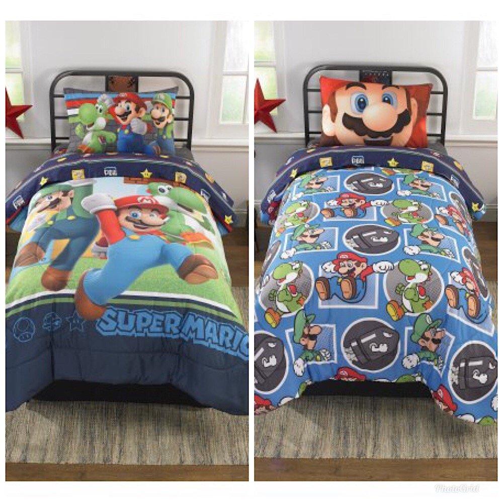 Super Mario Brothers Kids Reversible Twin Comforter