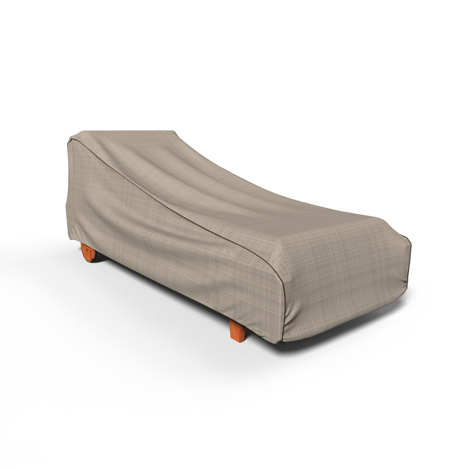 Budge P2A02PMNW2 NeverWet Mojave Patio Chaise Cover, Medium, Black Ivory
