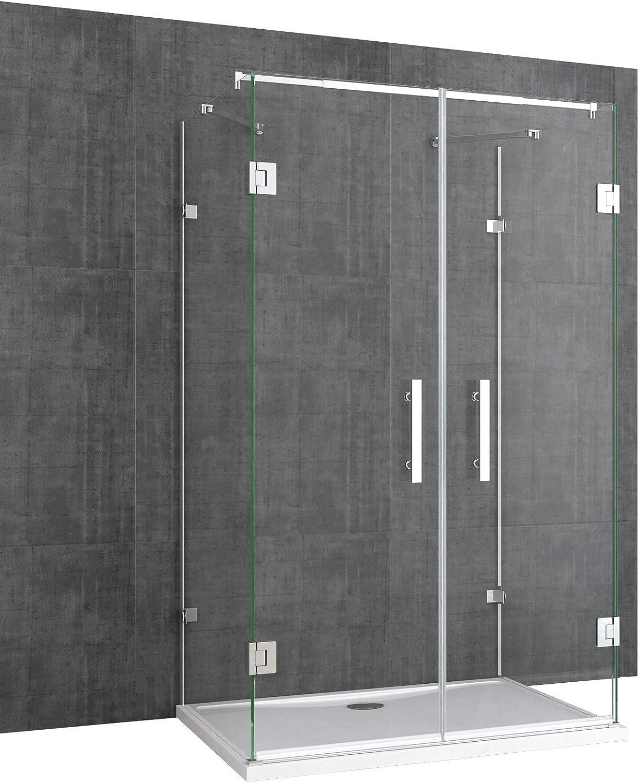 TBH: 90 x 90 x 195 cm Mampara de ducha ravenna40, forma de U, 8 mm ...