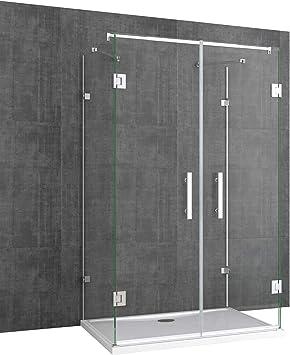 TBH: 80 x 120 x 195 cm Mampara de ducha ravenna40, forma de U, 8 ...