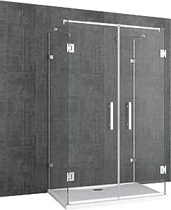 doporro Cabina de ducha Ravenna40 Forma - U 80x120x195cm Mampara de Vidrio de seguridad endurecido de 8 mm transparente | Incluye revestimiento en ambos lados para fácil limpieza: Amazon.es: Bricolaje y herramientas
