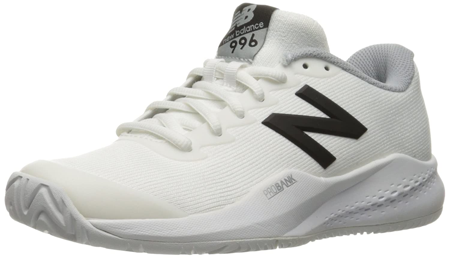 New Balance Women's 996v3 Hard Court Tennis Shoe B01FSIKOGI 8 D US|White/Black