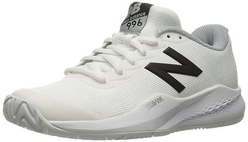 New Balance Women's 996V3 Tennis Shoe, White/Black, 8.5 D US