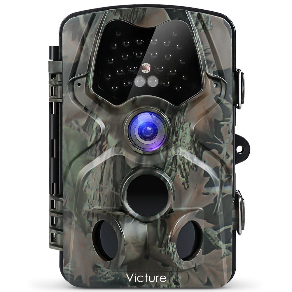 Victure Trail Camera with Night Vision Motion Activated Waterproof 12MP 1080P Game Camera with 120°View for Wildlife and…