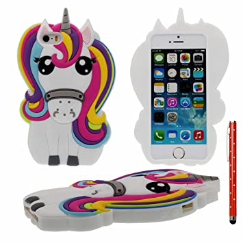 coque iphone 5 silicone cheval
