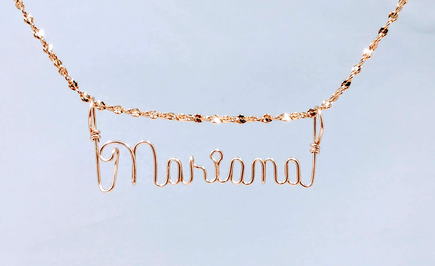 Hand Scripted 14K Gold Filled Personalized Name Necklace Mariana