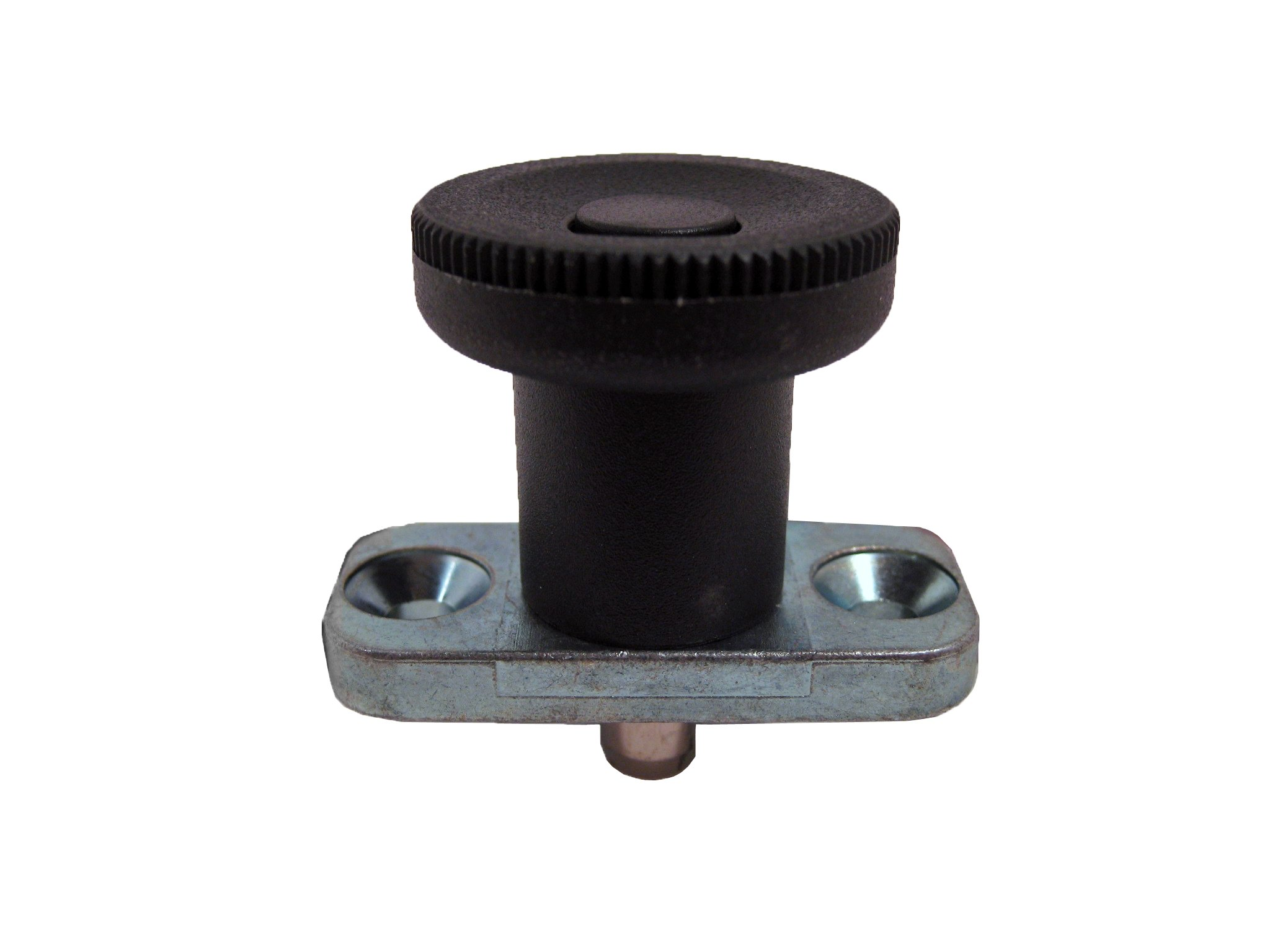 GN 608.5 Series Stainless Steel Non Lock-Out Type Plate Mount Indexing Plunger, 54mm Item Length, 8mm Item Diameter