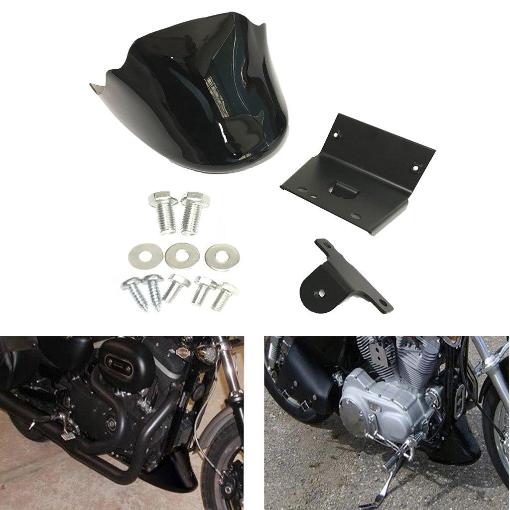 Matter Black Front Chin Fairing Spoiler Cover For Harley Sportster 883 1200 Custom 2004-2014
