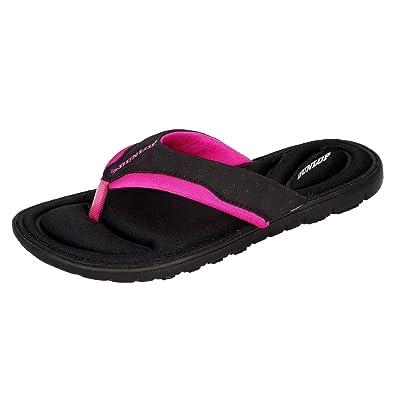 a512e54cfb68 Dunlop Womens Flip Flops New Ladies Memory Foam Toe Post Slip On ...