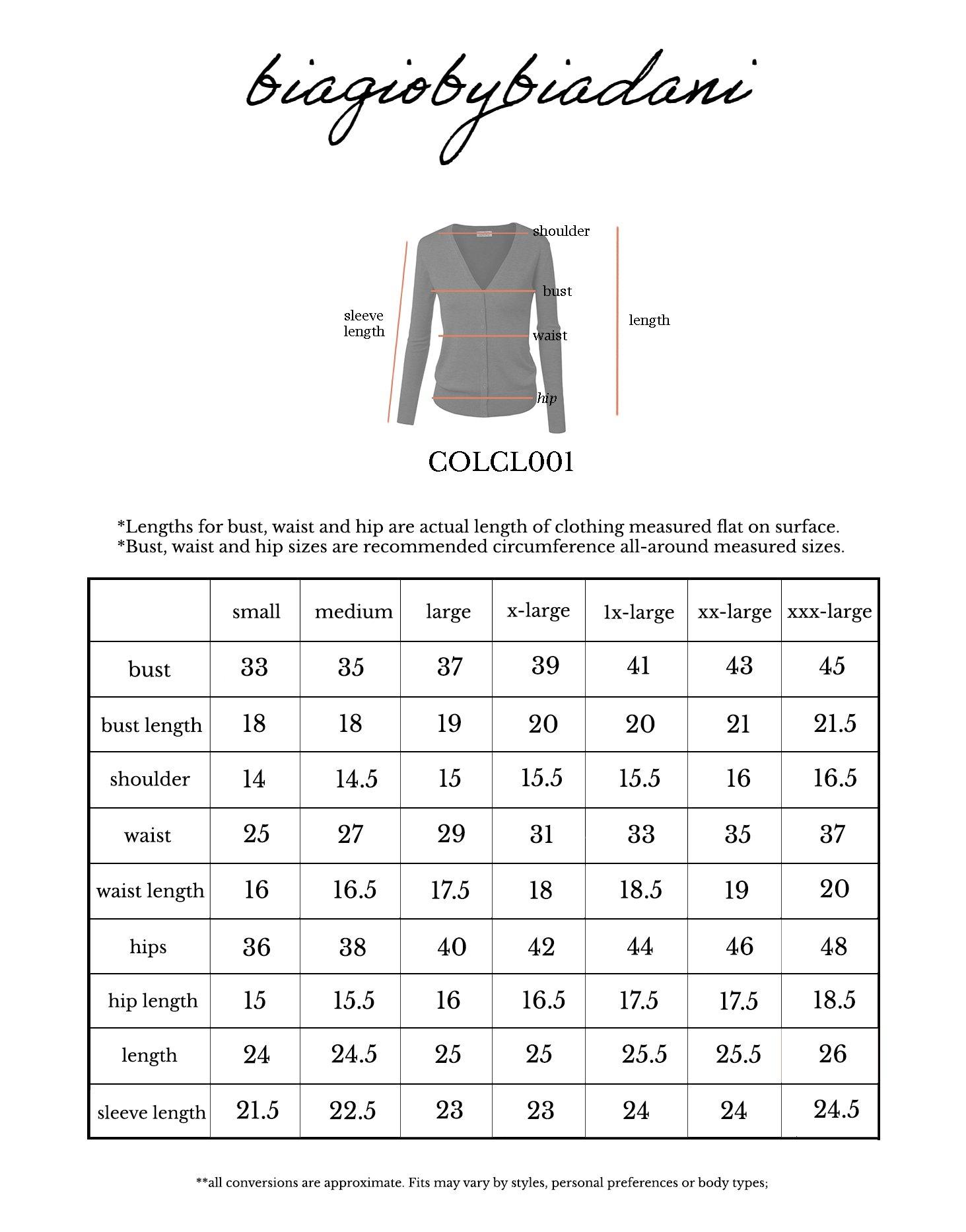 BIADANI Women Button Down Long Sleeve Soft V-Neck Cardigan Sweater Cobalt Large by BIADANI (Image #5)