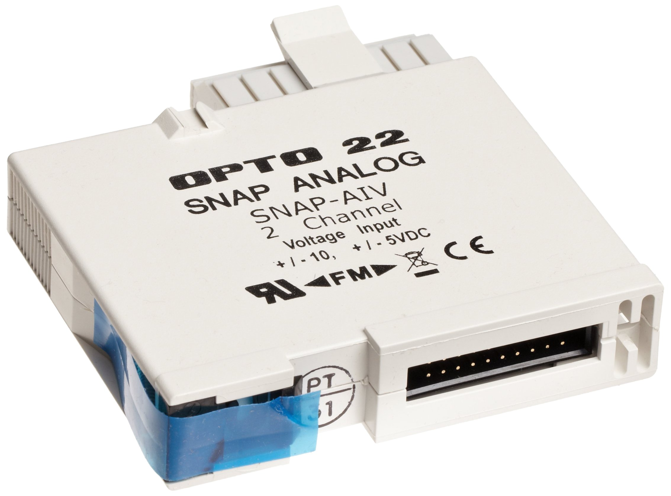 Opto 22 SNAP-AIV - SNAP Analog Input Module, 2-Channel, -10 VDC to +10 VDC or -5 VDC to +5 VDC Input by Opto 22 (Image #1)