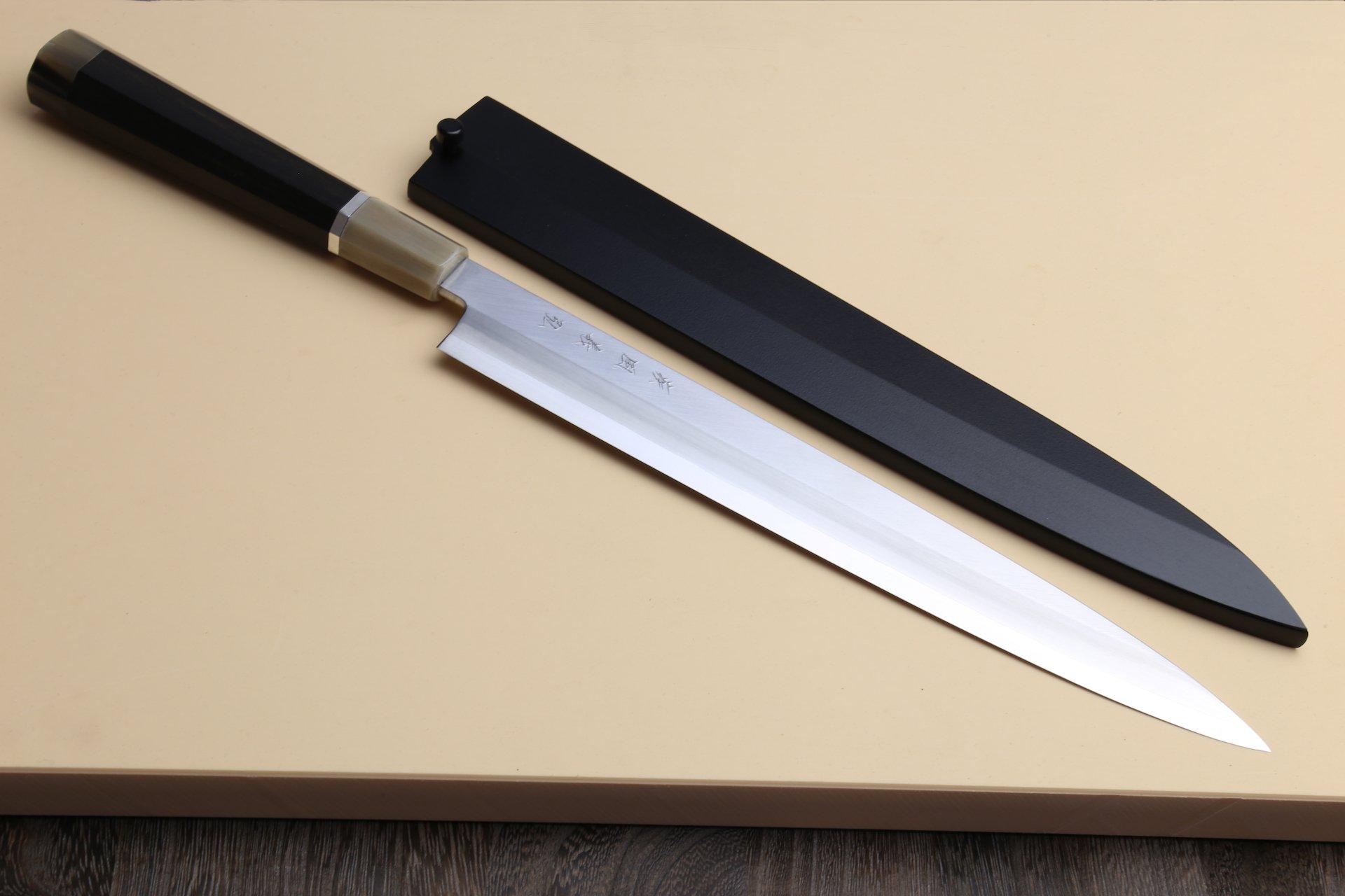 Yoshihiro R-2 Powdered Japanese Stainless Steel Yanagi Sashimi Chefs Knife 10.5 Inch