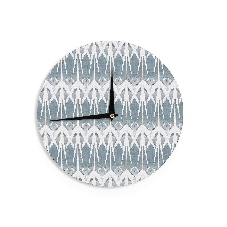 Kess InHouse Alison Coxon Deco Art Wall Clock 12 Diameter