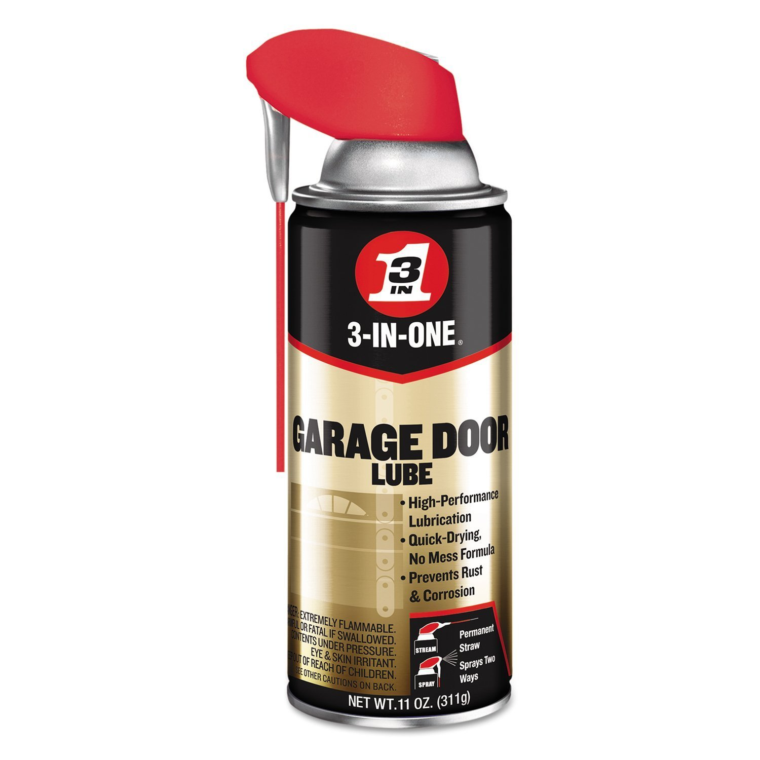3 In One Professional Garage Door Lubricant With Smart Straw Sprays