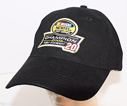 best sneakers 87872 b85ea Amazon.com  Winners Circle Tony Stewart  20 Nascar Nextel Championship  Black Cap Hat 2005  Automotive