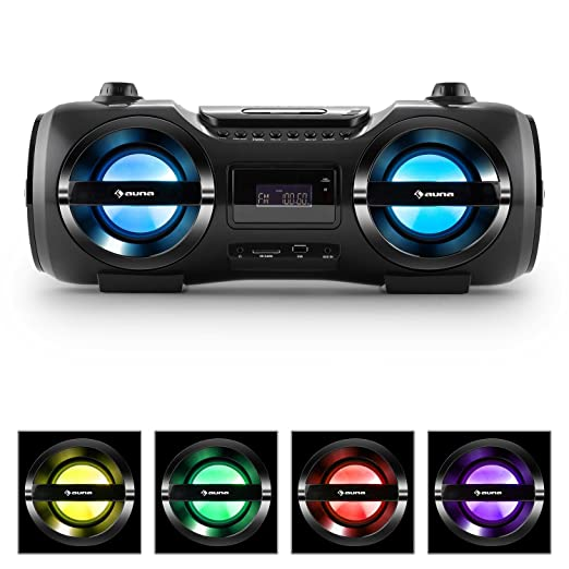 34 opinioni per auna Soundblaster Stereo Boombox bluetooth 3.0 impianto stereo portatile