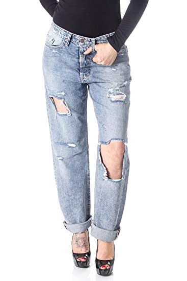 31bcc5308bf PLEASE Women Jeans Baggy Baggy Torn P30: Amazon.co.uk: Clothing