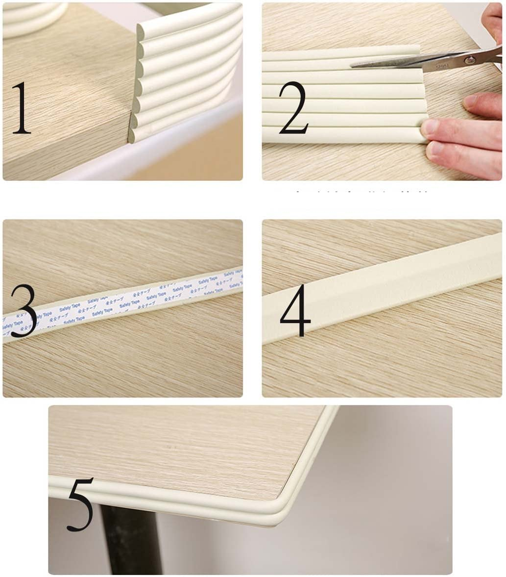 Ancdream 4M W-shaped Thicken Baby Safety Table Edge Corner Protector Guard Cushion Anti-collision Bumper Strip