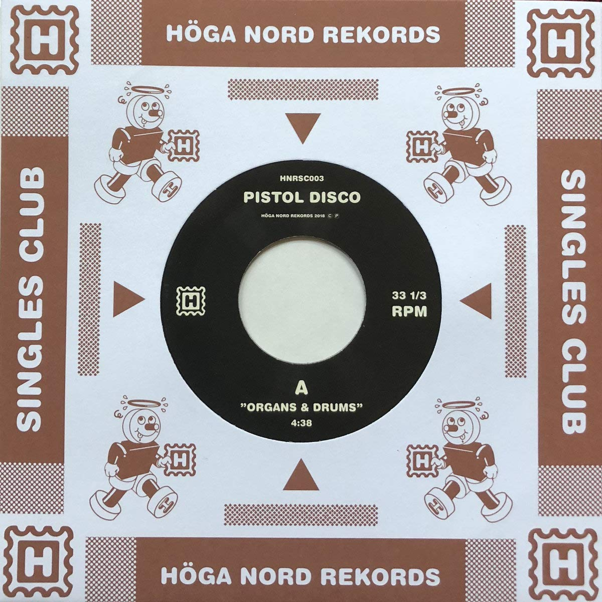 Vinilo : Pistol Disco - Organs & Drums /  Beat Of The Tune (7 Inch Single)