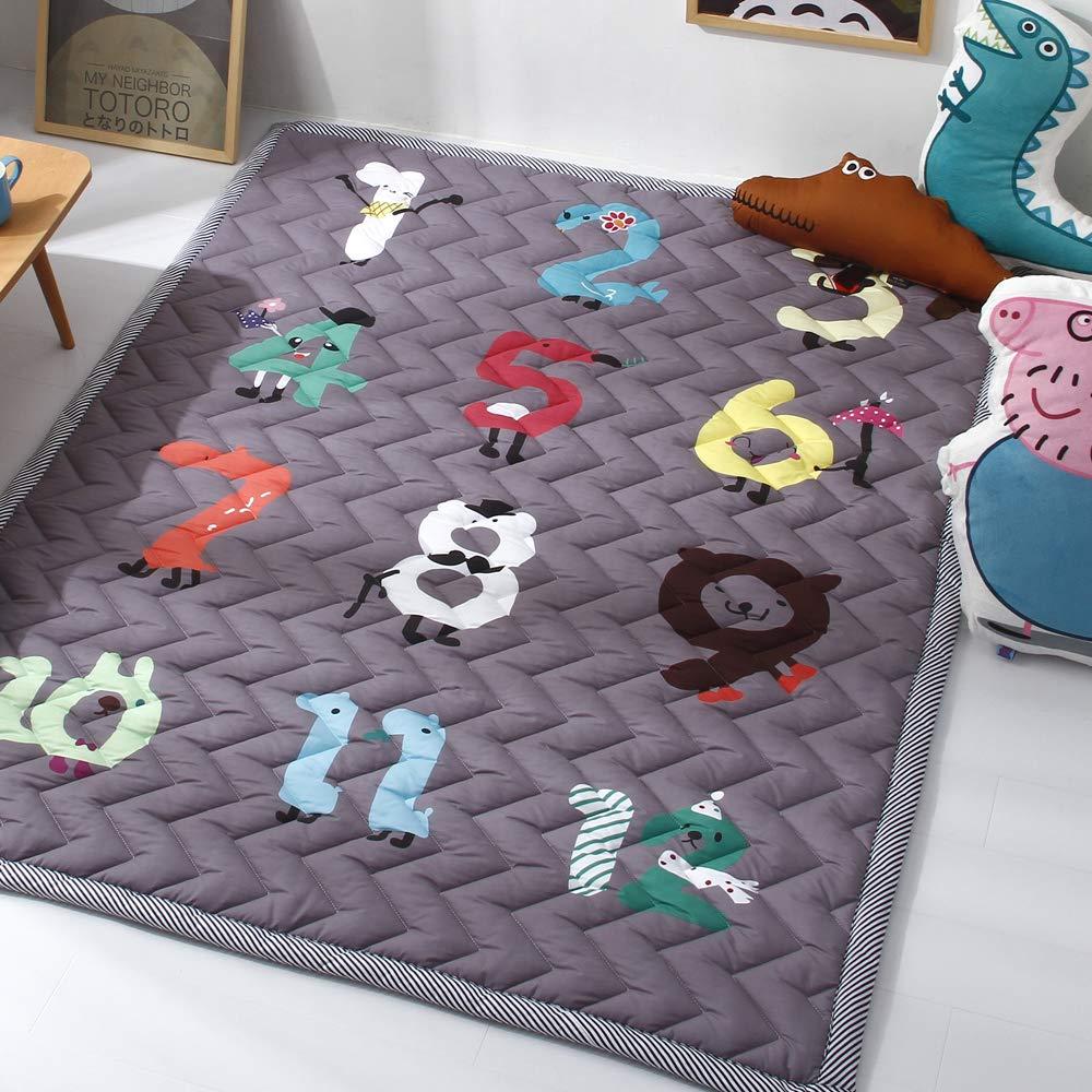 Zinsale Groß Verdicken Rutschfest Baby Krabbeldecken Baumwolle Spielmatte Kriechende Matte Waschbar Kinder Krabbelmatte Gamepad Kinderzimmer Teppich (Musik Party) B07K2118QX Teppiche