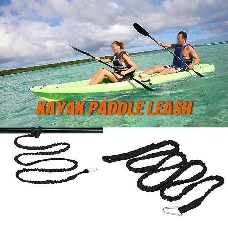 LNNUKc 1.5M Elastic Kayak Paddle Leash Caña de Pescar Correa ...