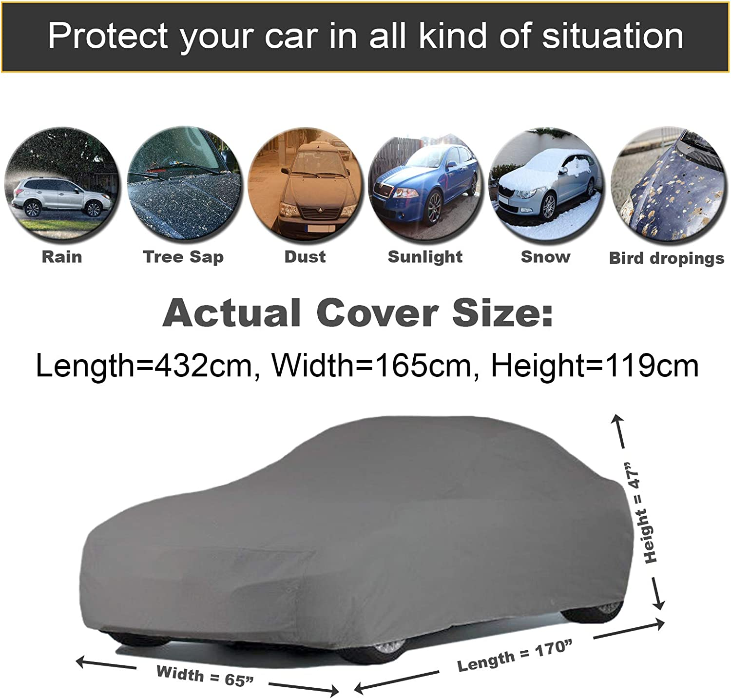 PEUGEOT RCZ COUPE 10-ON Fully Waterproof Car Covers Heavy Duty Cotton Lined