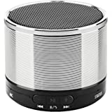 AISBR Bluetooth Speakers,Wireless Portable Stereo Super Small Speakers With 3.5mm Jack and Microphone for Android Tablet/iphone,3W,Play 4 Hours (Silver)