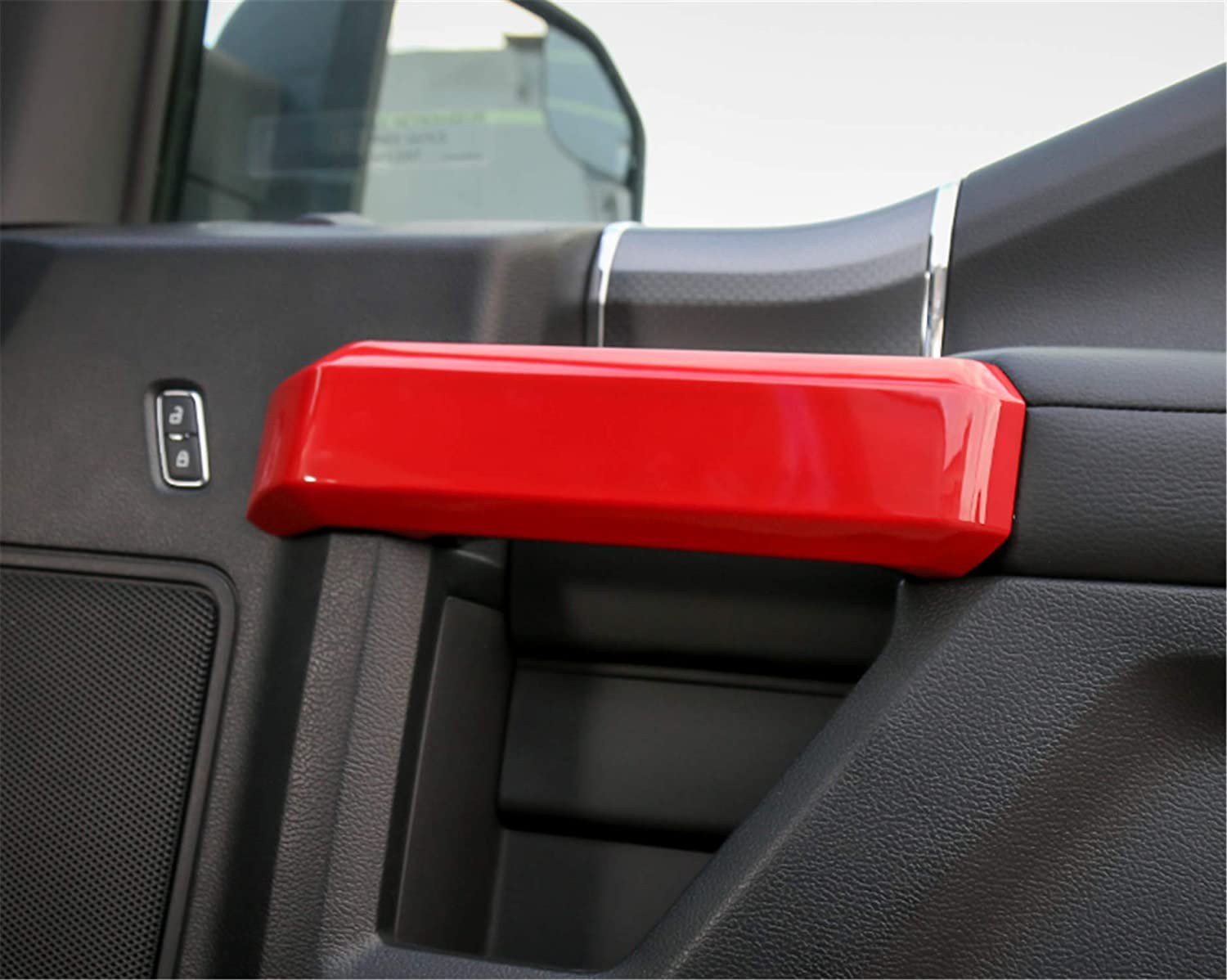 ABS Styling Anti Scratch Protection Decoration Frame Cover Trim Cap for Ford F150 2015 2016 2017 2018 Door Handle Frame Cover, Chrome