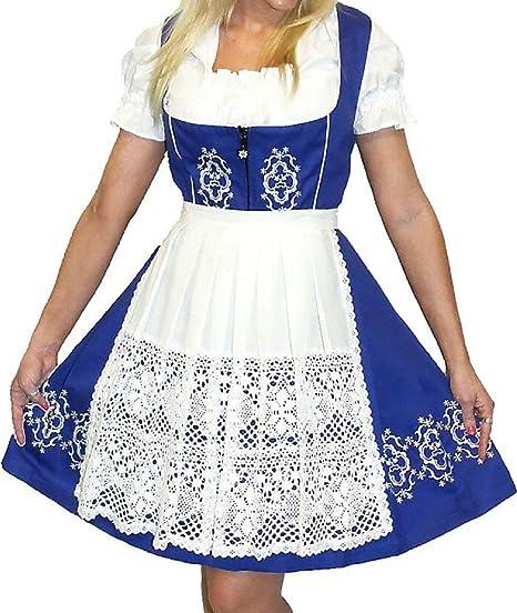 Dirndl Trachten Haus 3-Piece Short German Wear Party Oktoberfest Waitress  Dress