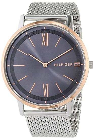 dc6d46fb15d Tommy Hilfiger Mens Analogue Classic Quartz Watch with Stainless Steel  Strap 1791512  Amazon.co.uk  Watches