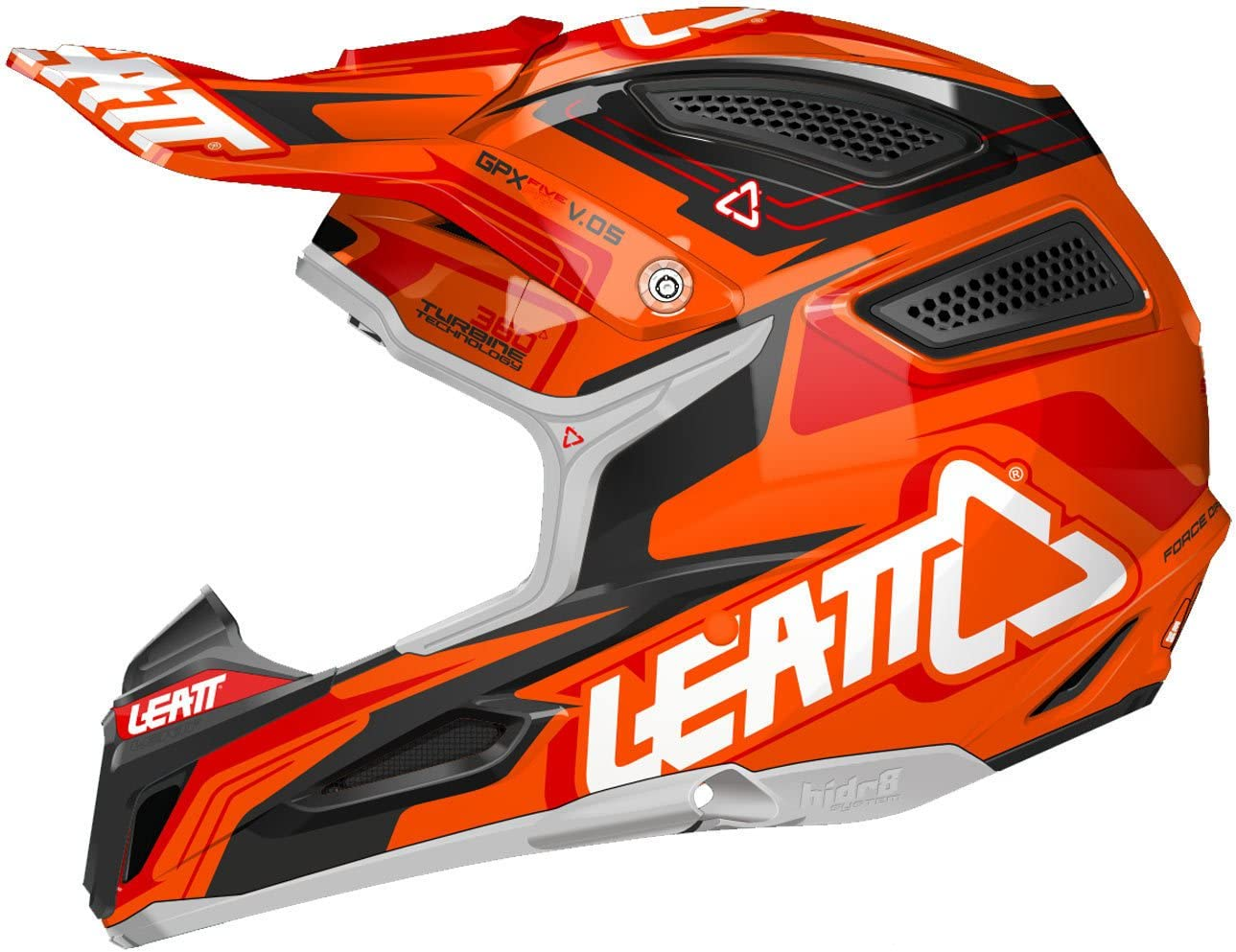 Leatt Gpx 5 5 Composite V05 Helmet Orange Black Red L Orange Auto