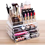 FOBUY Clear Acrylic Makeup Organiser Storage Stand Display Table for Cosmetics Set Holder, Jewellery