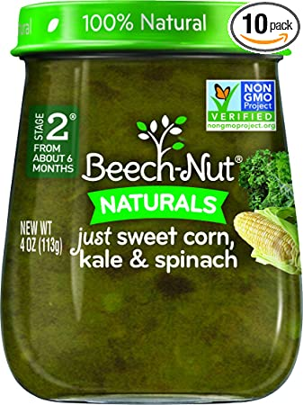 Beech Nut Stage 2 Baby Food Sweet Cornkalespinach 4 Ounce Pack