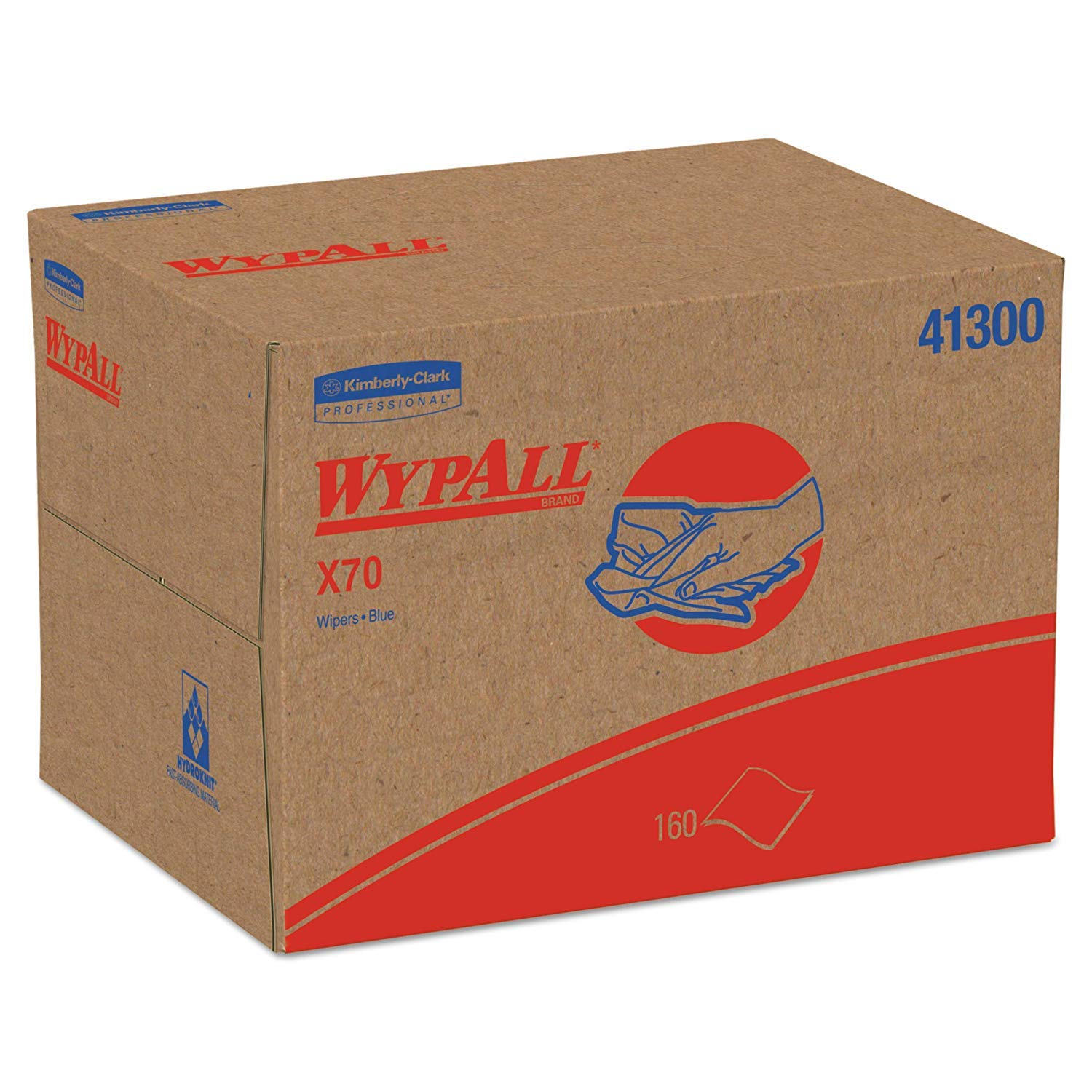 Wypall 41300 X70 Cloths, Brag Box, 12 1/2 x 16 4/5, White (Case of 152) (304)