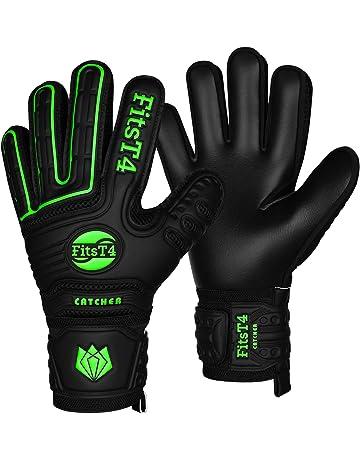 FitsT4 Goalie Goalkeeper Gloves with Fingersaves   Super Grip Palms Soccer  Goalkeeper Gloves for Youth 741bd08c7