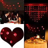 Amazon Price History for:LEORX Valentine Heart Shaped String Lights - 10 Ft. Long, 20 Red Heart Lights, Flash or Steady-On Modes