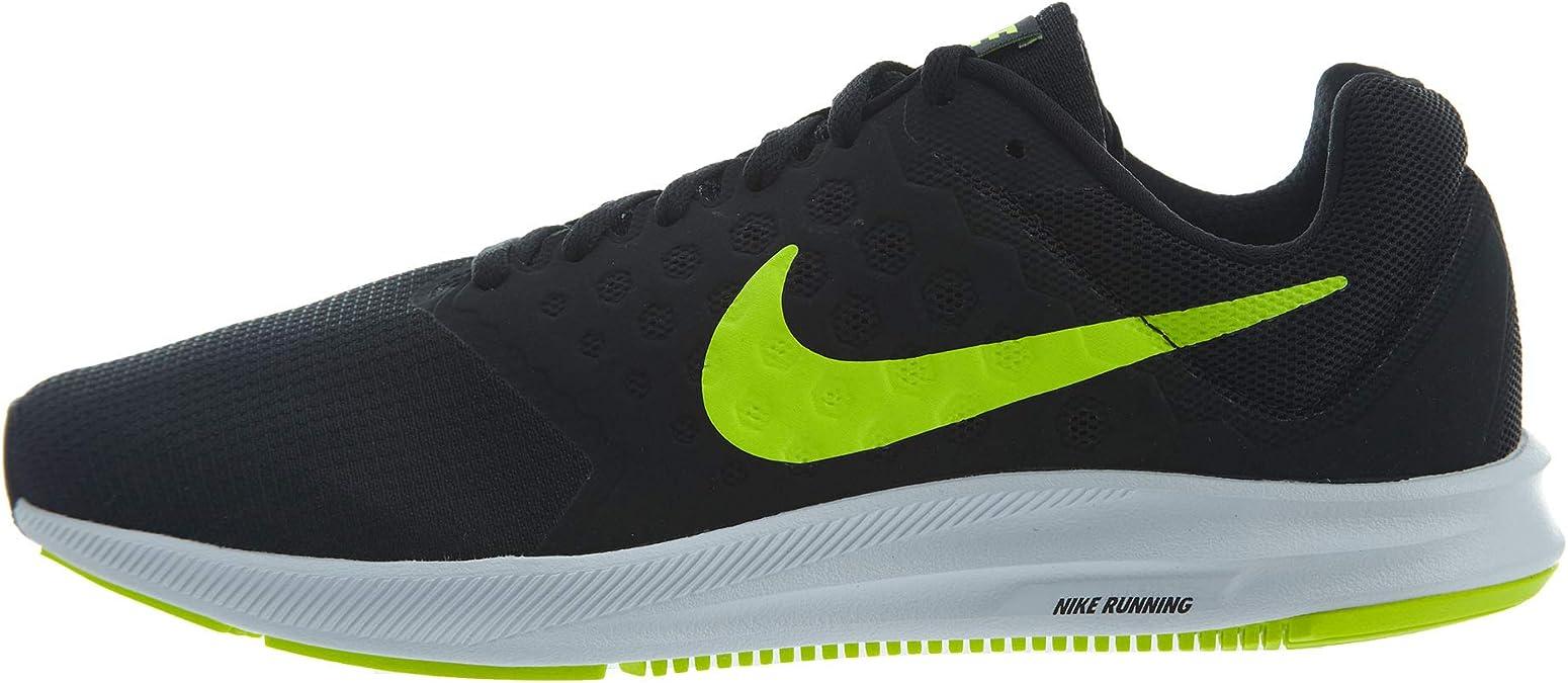 Nike Downshifter 7, Zapatillas de Running Hombre, Negro (Black/volt-white), 45 EU: Amazon.es: Zapatos y complementos