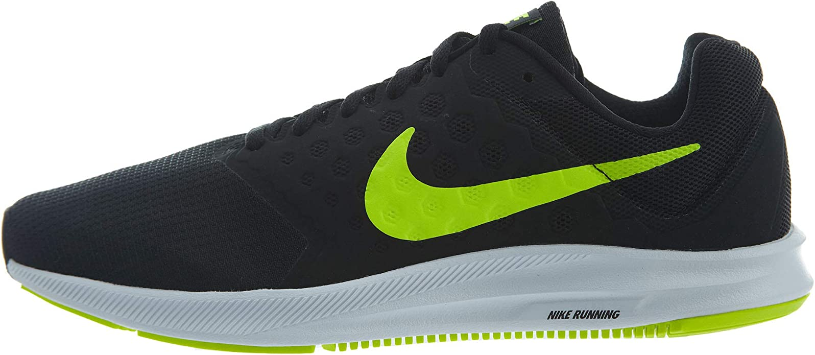 Nike Downshifter 7, Zapatillas de Running Hombre, Negro (Black/volt-white), 45 EU: Amazon.es: Zapatos y complementos